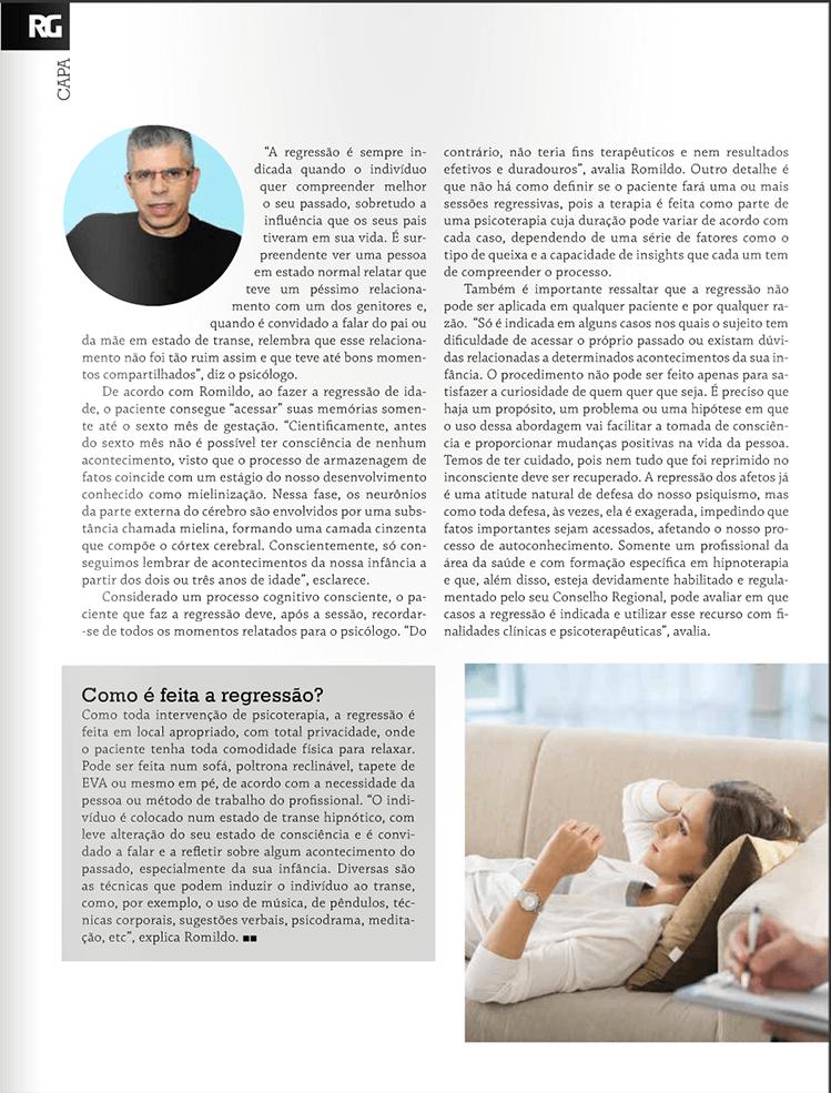 Entrevista Dr Romildo Psicólogo em Guarulhos na Revista Resgate-se 4
